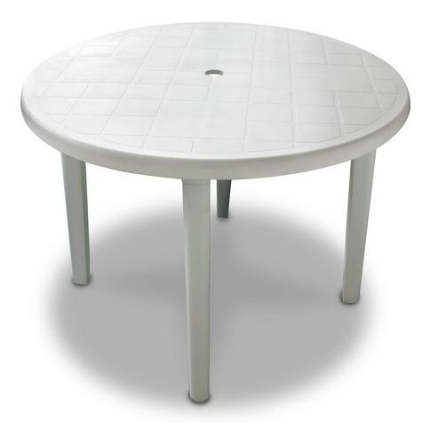 mesa redonda 1.00 metro de diámetro alica plástico paras desmontables