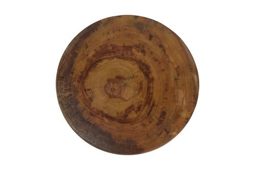 mesa redonda centro tronco madeira canafistula rustica apoio