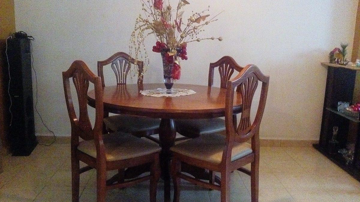 mesa redonda comedor de madera con sillas cargando zoom - Mesa Redonda Comedor