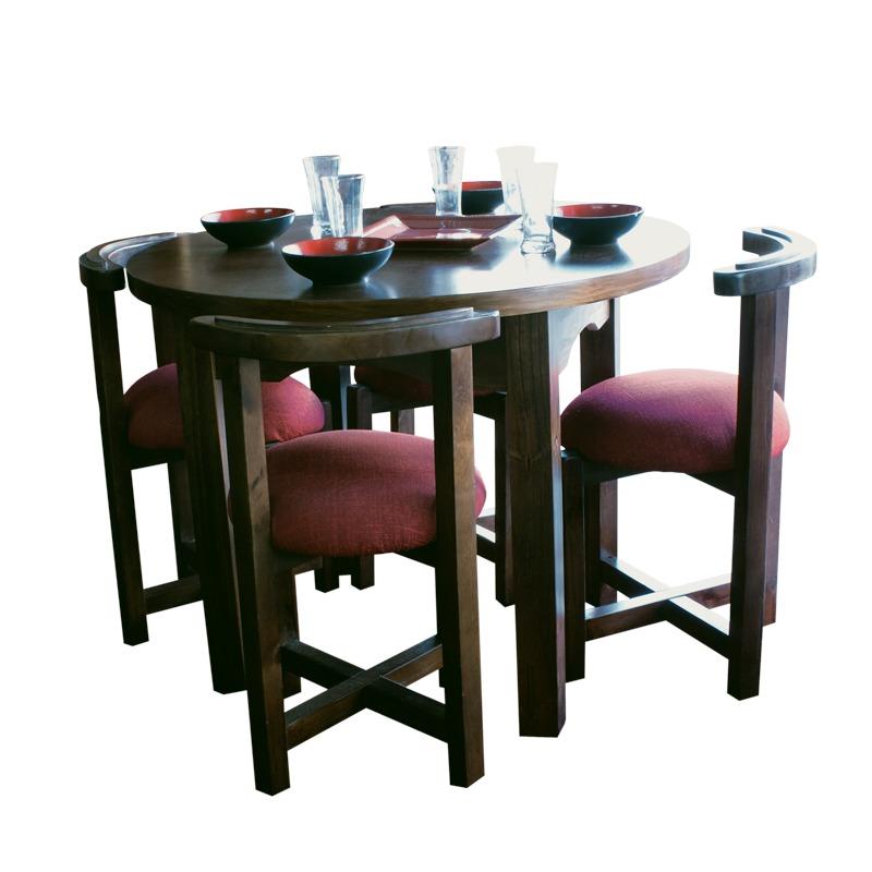 Mesa redonda con 4 sillas para cocina o comedor - Mesas de cocina con sillas ...