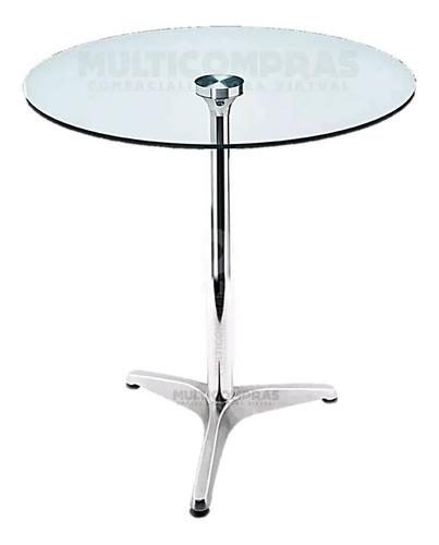 mesa  redonda con vidrio templado para balcón cocina patio