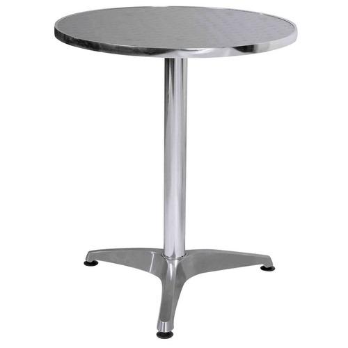 mesa redonda de aluminio intemperie, exterior, heladerias