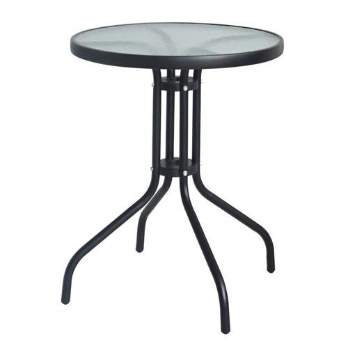 mesa redonda de jardim rio preta 60 cm