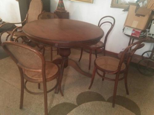 Mesa redonda de madera mesa redonda de madera mesa de - Mesa redonda con sillas ...