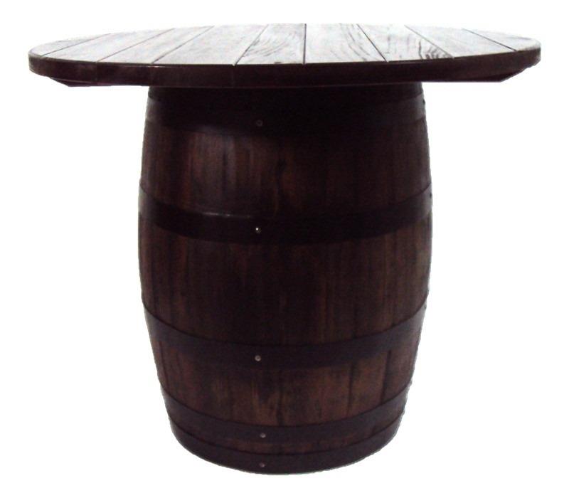 Mesa redonda de madera de roble barril bar pub por pedido for Barriles de madera bar