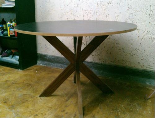 Mesa redonda desarmable pata en x 2 en mercado libre - Patas para mesa redonda ...