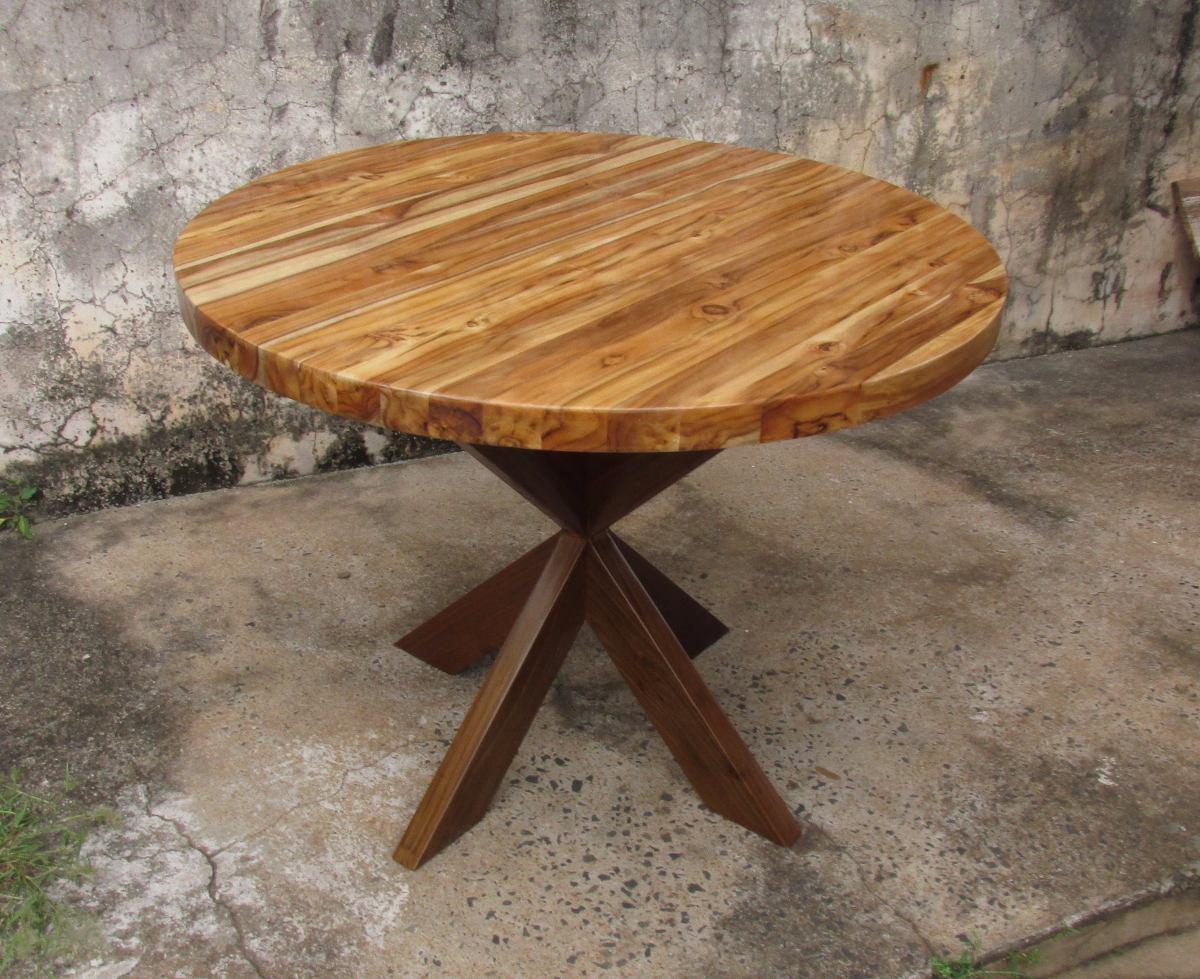 Mesa redonda madeira teca r em mercado livre - Mesa de teca ...
