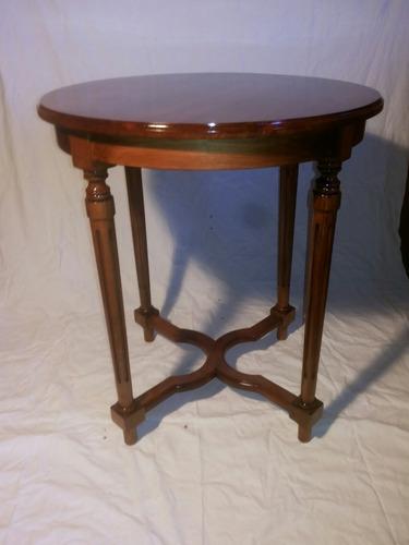 mesa redonda madera nativa 73cm altura65cm diametro cubierta