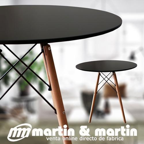 mesa redonda martin & martin negra 70 x 75 cm