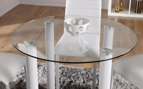 Mesa Redonda Moderna Comedor Diseño Vidrio Sistema Uv