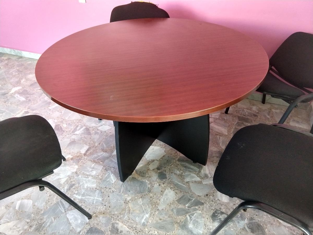 Mesa Redonda Para Oficina - $ 2,100.00 en Mercado Libre