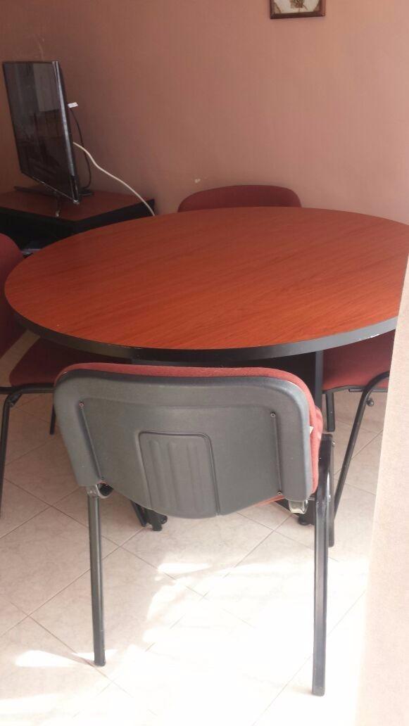 Mesa Redonda Para Oficina O Hogar - $ 2,500.00 en Mercado Libre