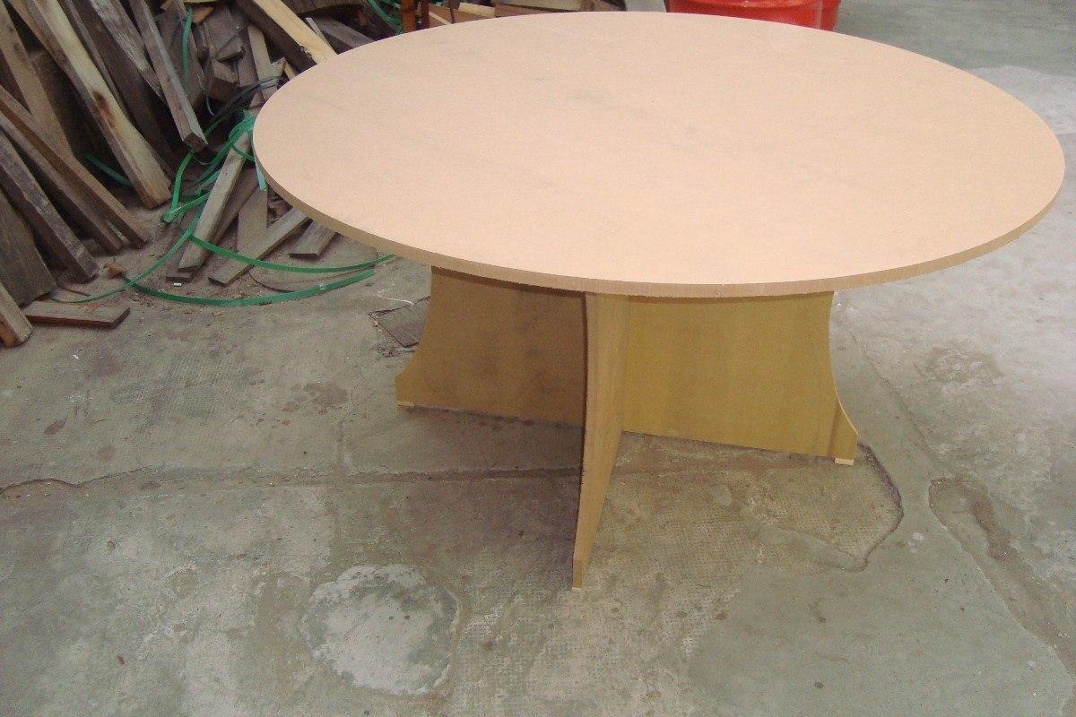 Mesa redonda para comedor la forma de la mesa mesa de - Como hacer patas de madera para mesas ...