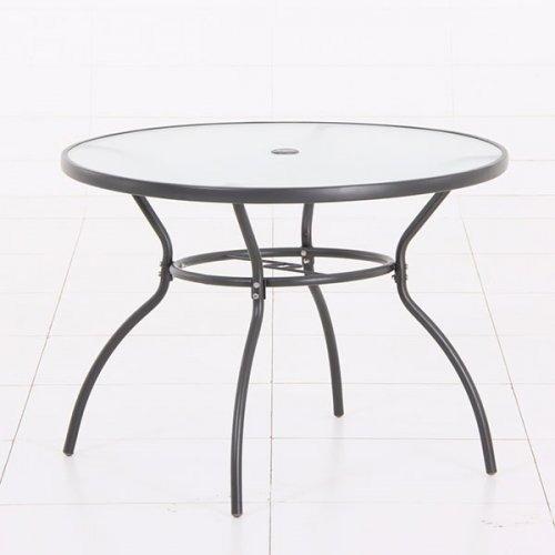 mesa redonda plata en metal mesas jardin terraza hogar ea
