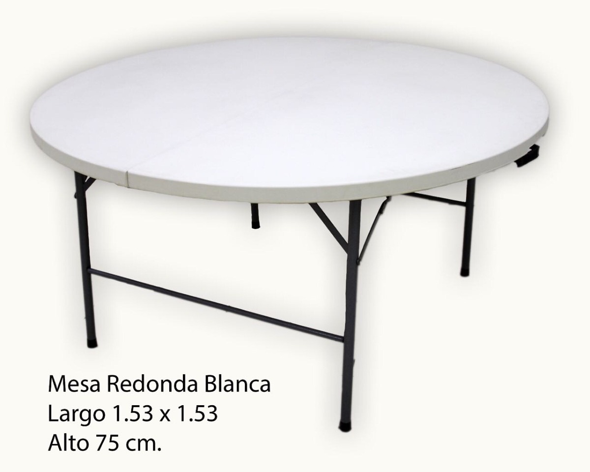 Mesa redonda plegable 1 en mercado libre for Mesa plegable redonda
