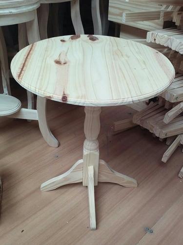 mesa redonda torneada pino macizo ideal candy bar!