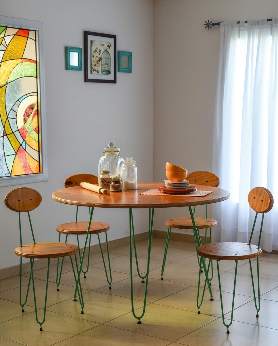 Mesa Redonda Y Silla Para Cocina Moderna - $ 9.689,00 en Mercado Libre
