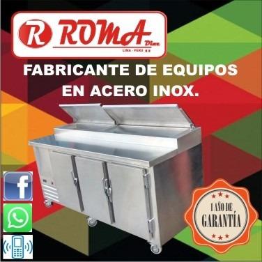 mesa refrigerada cevichera. refrigeracion roma diaz