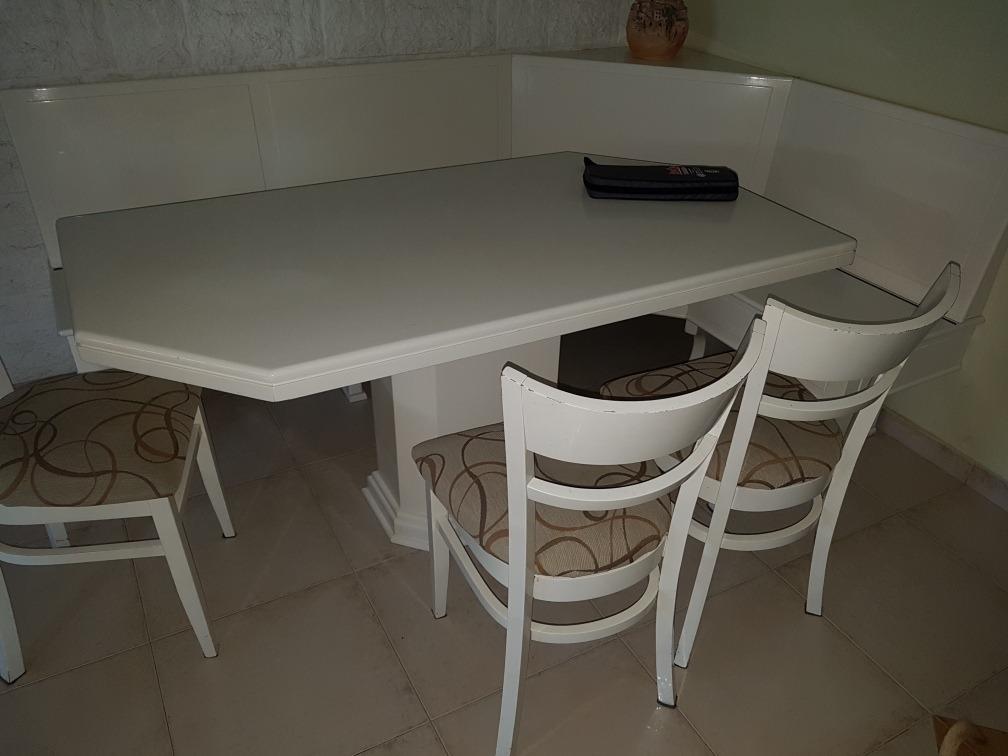 Mesa Rinconera Cocina/comedor Laqueada Blanca - $ 18.000,00