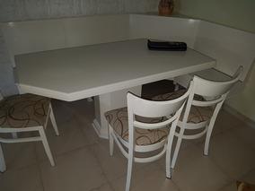 Mesa Rinconera Cocina/comedor Laqueada Blanca