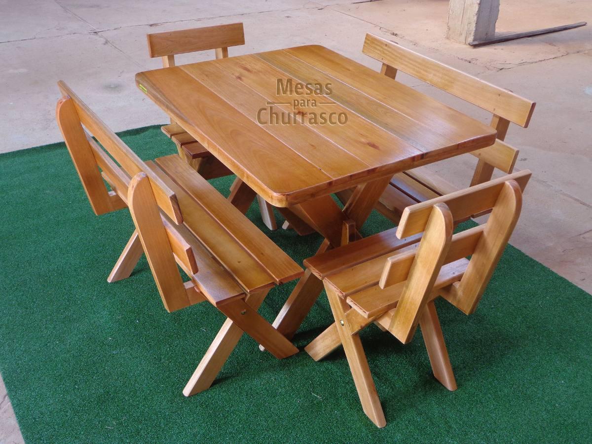 2a9eb8f61 mesa rústica churrasco com bancos e cadeiras madeira maciça. Carregando  zoom.