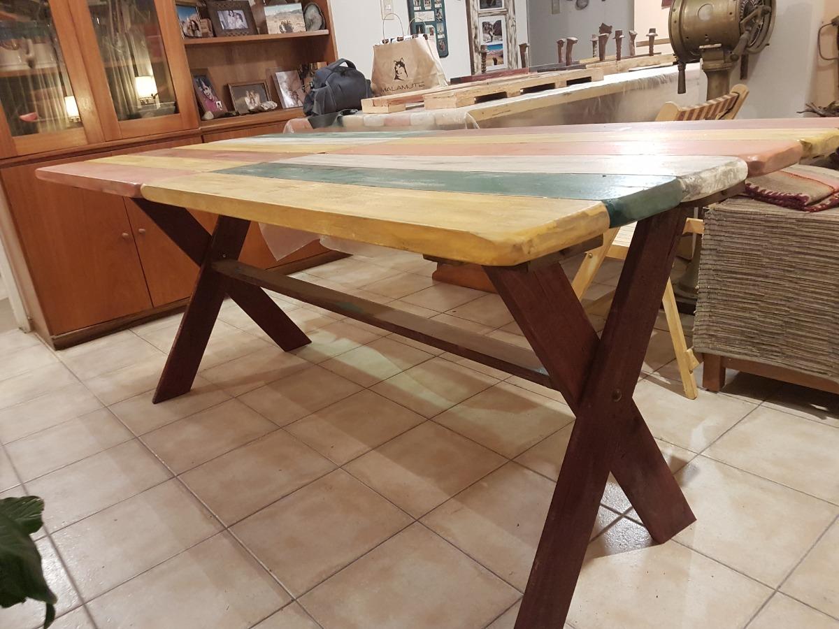 Mesa Rustica Comedor, Cocina ,madera Reciclada, Patinada. - $ 2.400 ...