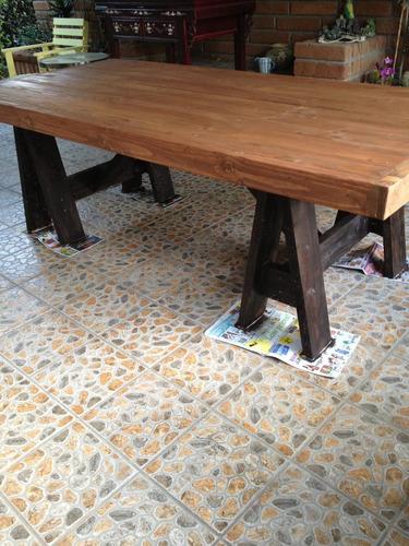 mesa rustica de campo