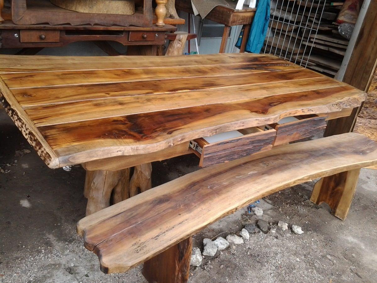 Mesa r stica de canela r em mercado livre for Mesas para bar rusticas