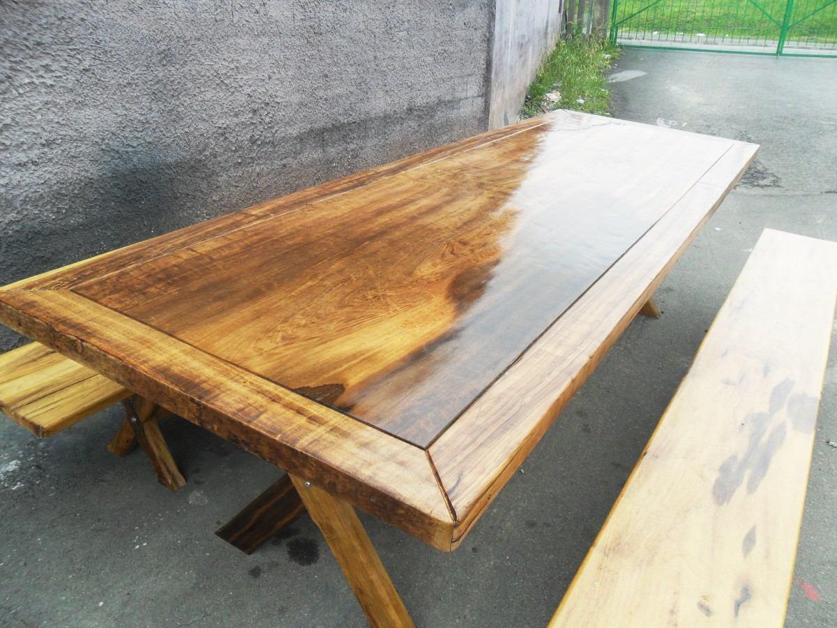 Mesa r stica de imb ia r em mercado livre - Mesas rusticas de cocina ...