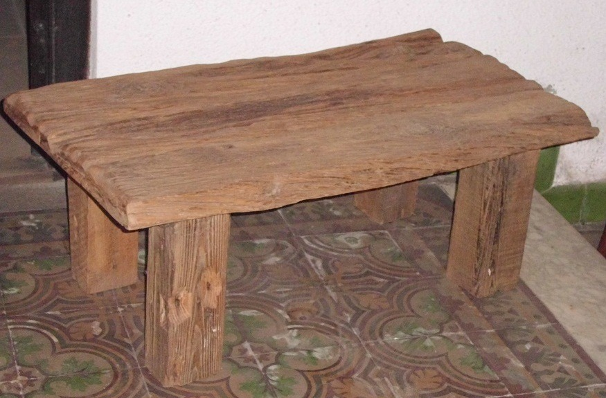 Mesa r stica de madera maciza en mercado libre - Mesa de cocina rustica ...