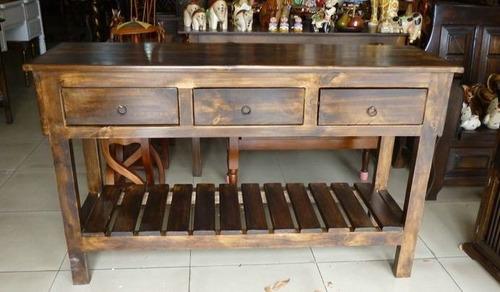 mesa rústica decorativa