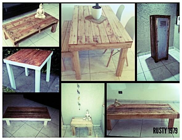 Mesa Rustica Para Cocina O Living Con Madera De Palets - $ 2.800,00 ...