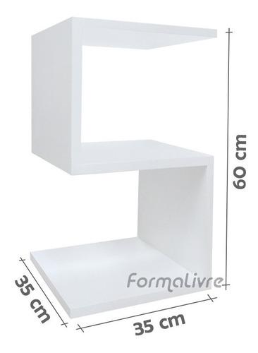 mesa s lateral apoio cabeceira criado mudo - branca laqueada