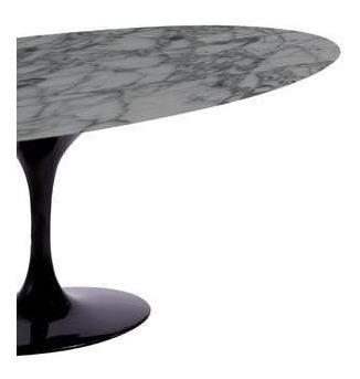 mesa saarinen de jantar oval marmore carrara  1.98x 1.22