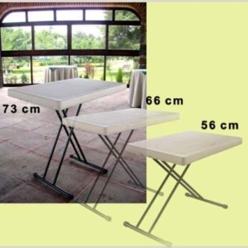 mesa servicio 75cm 3 alturas ajustables plegable