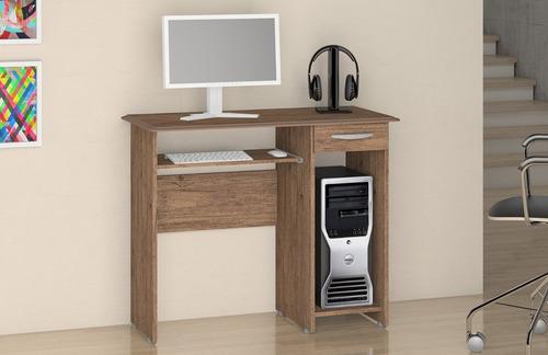 mesa siena de computador com 1 gaveta mesa pequena