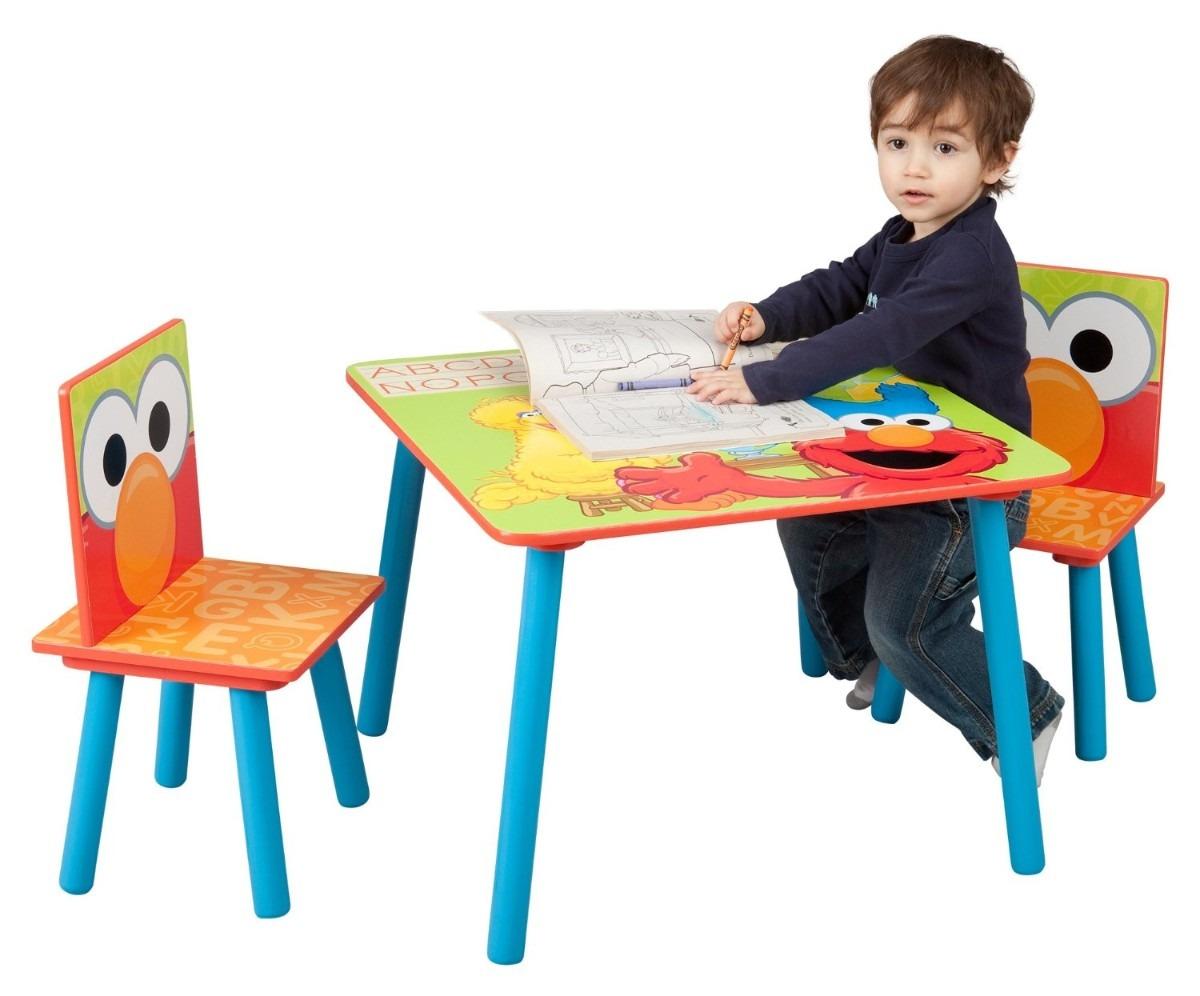 Mesa sillas infantiles plaza sesamo madera pm0 2 099 - Mesa madera infantil ...