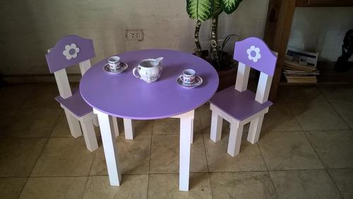 mesa sillas juego