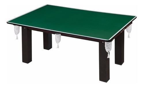 mesa sinuca multi-funcional 4 em 1 com jogo de bolas e tacos