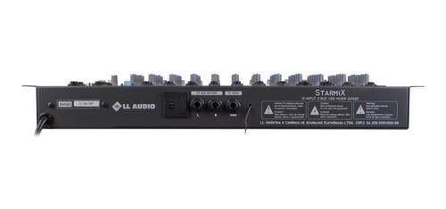 mesa som 12 canais usb bluetooth ll áudio starmix 1202bt nca