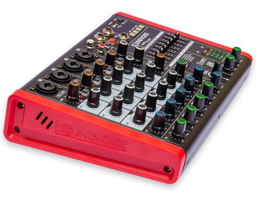 mesa som 6 canais usb efeito equalizador grafico usb 48v mc6