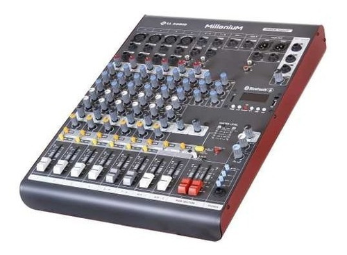 mesa som 8 canais ll áudio millenium m802d usb / bluetooth