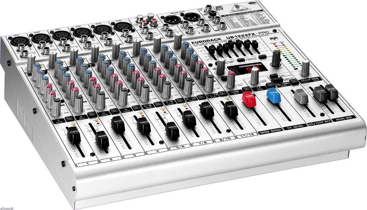 Mesa de som behringer ub1222fx 12 canais c efeitos 6681 for Mesas behringer