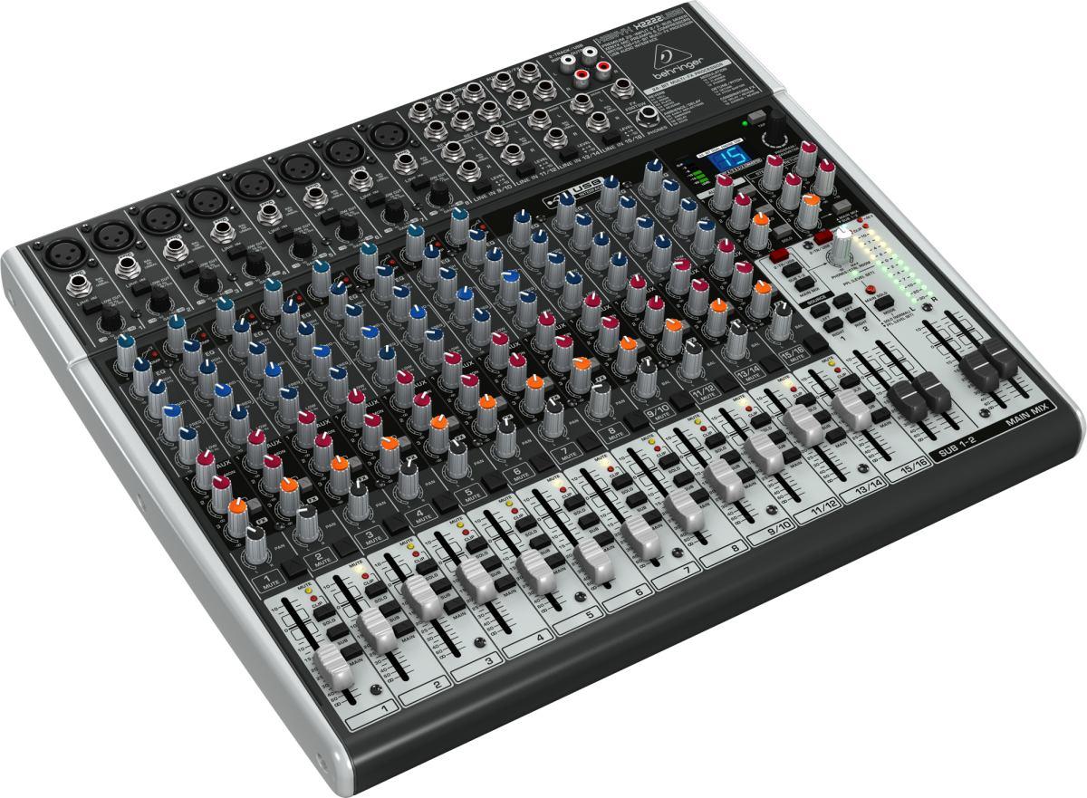 Mesa de som mixer x 2222 behringer xenyx x2222 usb 16 for Mesas behringer