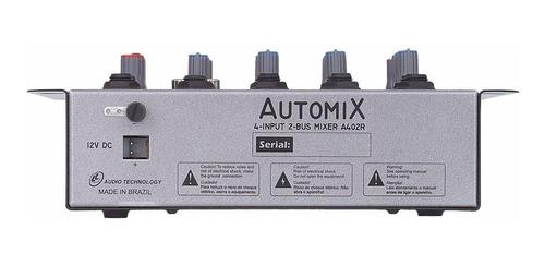 mesa som carro mixer automix a402r 4 canais 12 volts nca ysm