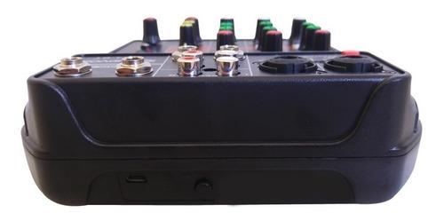mesa som compacta usb bluetooth efeito 4 canais phantom ufx