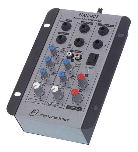 mesa som l l áudio nanomix  na202r 2 canais nca ysm