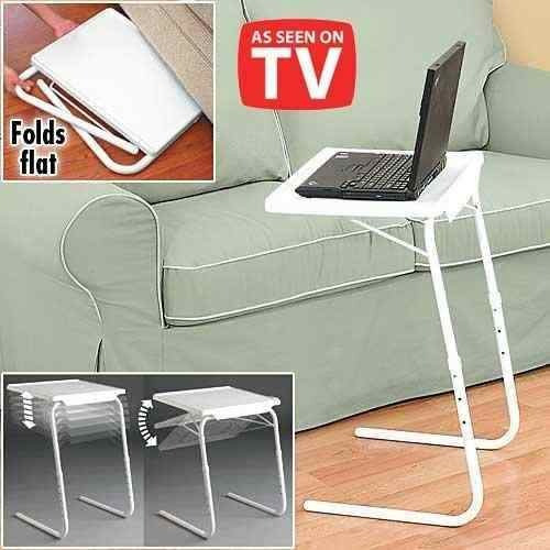 mesa table mate ii tv. ajustable multiusos portátil plegable