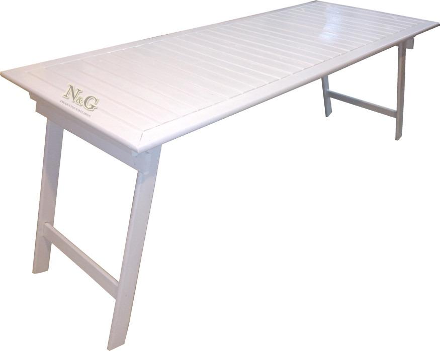Mesa Tablon Caballetes Plegables Quincho 1.50 X 0.80 Blanca ...