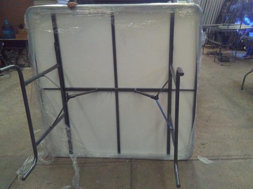 mesa tablon cuadrada banquetera fibra de vidrio 1.50 x 1.50